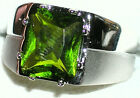 Men's Heavy 925 Sterling Silver Peridot Ring    R5