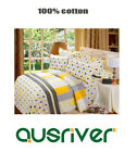 New Single/Queen/King Bed Quilt/Doona/Duvet Cover Set Fitted Sheet 100%Cotton
