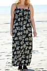 SIMPLY BE Strappy Printed Lightweight Maxi Dress with Shirred Bust Size 24