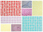 "Daisy Puff Gingham Fabric 1/4"" Check (6.35mm) Dress Material  - 56"" (142cm) wide"