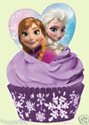 24 x DISNEY FROZEN Elsa Anna HEARTS STAND UP Edible Decoration Cup Cake Toppers