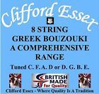 CLIFFORD ESSEX 8 STRING GREEK BOUZOUKI. MEDIUM - OCTAVE STRUNG. MADE IN BRITAIN.