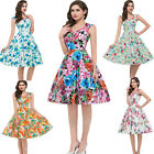 CLASSIC 50's 60s VIntage Style Rockabilly Swing Pin Up Evening Dance Tea Dress