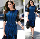 NEW Womens Career Business Wear to Work Dress Celebrity Knee-Length Dress XXS-L