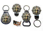 Christian Cross and Berries Bottle Opener Key Fob Key Holder Money Clip