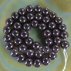 Good Quality Czech Opaque Coated Glass Pearl Round Beads 16'' 4mm 6mm 8mm 10mm
