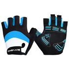 Soft Breathable Cycling Bicycle Outdoor Sports GEL Pad Half Finger Gloves Blue