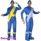 Licensed Virgil or Scott Blue Thunderbirds Cartoon Costume Jumpsuit Fancy Dress
