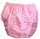 Adult Waterproof Noisy Plastic Pants Diaper Cover Nappy M Medium Abdl Pink Baby
