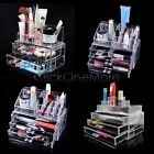 EZI - Clear Cosmetic Jewelry Rack Makeup Organizer Box Case with Storage Drawer
