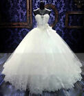 New White Wedding dress Bridal Gown Stock inventory size 6-8-10-12-14-16