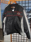 NOS Harley Davidson Mens Traction Water Resistant Black Casual Nylon Jacket