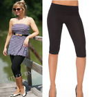 UK Stock Leggings Cropped Length High Quality Cotton Capri Fitness Run Trousers