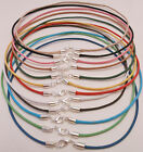 Surfer Choker Necklaces with Silver Lobster Clasp - 3mm Cotton Cord -Made in USA