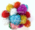 "10 Sparkle Ball Pom Pom Glitter Cat Toys, 1.5"" (33mm) Our #1 Best Kitty Toy!"