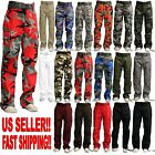 MEN MILITARY ARMY CAMOFLAUGE CAMO CARGO PANT COMBAT CARGO PANTS 15 COLOR