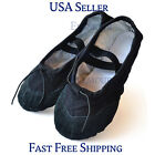 Girls Womens Ballet Dance Shoes Fitness Gymnastics Shoes Canvas US Seller