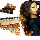 "Best Hair!Hot Ombre Brazilian Human Hair Extension 10""-30"" Body Wave1b33#27#New"