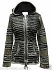 100% Cotton Slashed Long Sleeved Hip Length Pointy Hoodie Women Gothic Jacket
