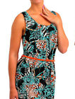 Womens Summer Animal Print Tunic Vest Top Belted Strappy Sleeveless Shirt