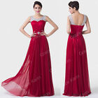 Graduation Long Bridesmaid Formal Gown Ball Party Evening Prom Crew Neck Dress