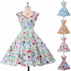 VINTAGE RETRO FIFTIES 50's STYLE ROCKABILLY SWING PINUP FLORAL DRESS PLUS SIZE