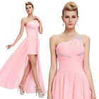 Long Short Chiffon Wedding Bridesmaid Formal Cocktail Prom Party Ball Gown Dress