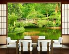 Photo Wall Mural LAKE VIEW 400x280 Wallpaper Garden Landscape Spring Water Tree