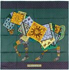 NEW Authentic Hermes Silk Scarf A CHEVAL SUR MON CARRE Equestrian Bali Barret