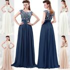 2015 BEADED Long Evening Formal Party Ball Gown Wedding Prom Bridesmaid Dresses