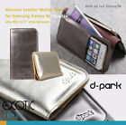 Genuine Leather Wallet Type Cases for Samsung Galaxy S6/S6 edge, Hold 2+ phones