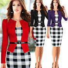 Fashion Women Elegant Long Sleeve Business Evening Cocktail Party Pencil Dress