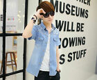 Men's Wash The Old Denim Short-sleeved Comfortable High Quality Cotton Shirt