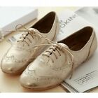 Metallic leather classic oxford  women flats lace up shoes boyfriend boots