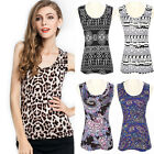 Summer Womens Pleasantly Cool Chiffon Vest Collarless Tank Tops Multicolor