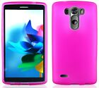 HOT PINK TPU Protector Gel Case for LG Optimus G3 G 3