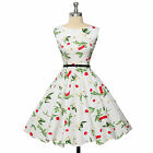 Vintage Retro Polka Dots Swing 50s 60s Pinup Housewife Party Cocktail Prom Dress