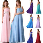 Hot Long Wedding One-shoulder Party Bridesmaid Gown Formal Evening Prom Dress