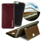 Pierre Cardin Case stand Cover For Apple iPhone Flip Wallet Genuine Leather