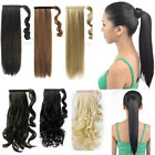 Real quality Pony tail Wrap Around Clip on Ponytail Hair Extensions for human
