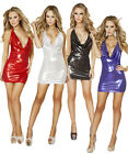 Shimmer Cowl Neck Mini Bodycon Dress 3143 in Multiple Colors