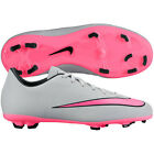 Nike Mercurial Victory IV FG 2015 Soccer SHOES Gray - Pink KIDS - YOUTH