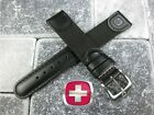 Black Leather Strap Nylon Watch Band 20mm 19mm 18mm V Wenger Swiss Army X1