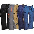 Workwear Contrast Trousers Portwest Elasticated Work Pants Texo TX11 Kneepad