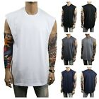 MEN HEAVY WEIGHT Muscle T-SHIRT Tank Top Sport Fitness Gym Bodybuilding Hipster image