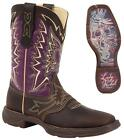 NEW Durango Women's Lady Rebel LET LOVE FLY Leather Western Cowboy Boots Purple