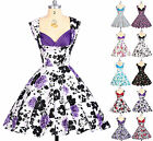 New VINTAGE 1950's ROCKABILLY SWING dress  EVENING PARTY Summer Club short DRESS