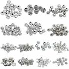 Bulk 10/20/30/50/100pcs Metal Spacer Beads Bracelet Jewelry Craft Findings DIY