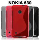 Gel Case TPU S Curve Slim Soft Thin Cover + Screen Protector for Nokia Lumia 530