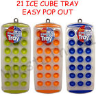 21 ICE CUBE TRAY EASY RELEASE POP OUT SILICONE PARTY DRINKS HOME
